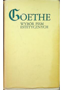 Goethe Wybór pism estetycznych