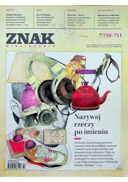 Znak miesięcznik nr 710 - 711