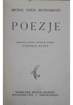 Poezje Buonarroti 1922r.