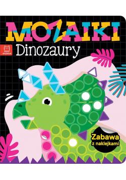 Mozaiki. Dinozaury. Zabawa z naklejkami