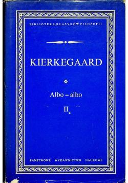 Kierkegaard Albo albo