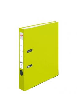 Segregator A4 5cm PP zielony neon Q file