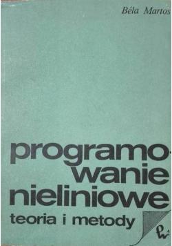 Programowanie nieliniowe teoria i metody
