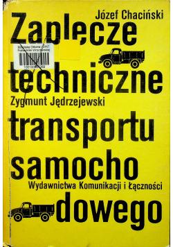 Zaplecze techniczne transportu samochodowego