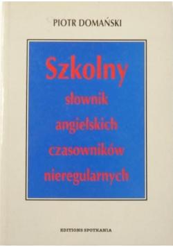 Szkolny słownik angielskich czasowników nieregularnych