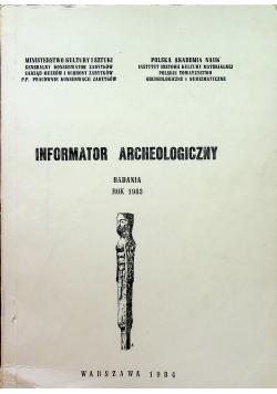 Informator Archeologiczny badania 1983