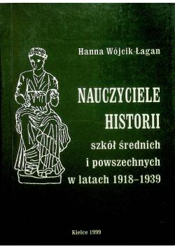Nauczanie historii szkół średnich i powszechnych w latach 1918 - 1939