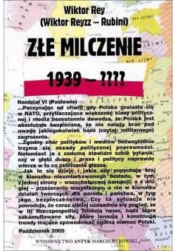 Złe milczenie  1939