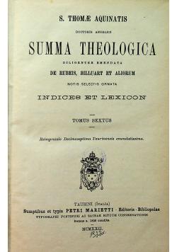 Summa Theologica Tomus VI 1922 r.
