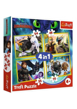 Puzzle 4w1 Jak wytresować Smoka TREFL
