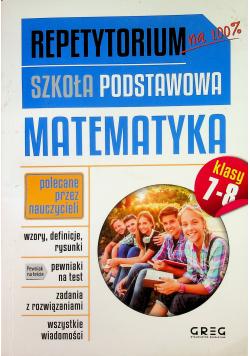 Repetytorium Szkoła Podstawowa Matematyka klasy 7 - 8