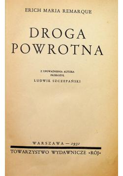 Droga powrotna 1931 r