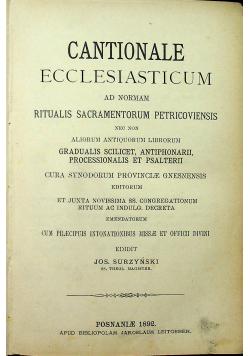 Cantionale ecclesiasticum 1892 r.