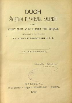 Duch świętego Franciszka Salezego 1900 r