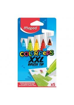 Flamastry Colorpeps Brush Jumbo XXL 5 kolorów