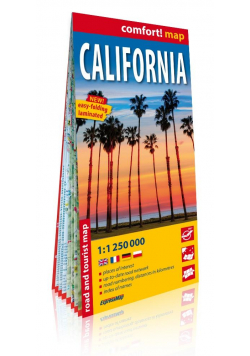 Comfort! map California 1:250 000 mapa