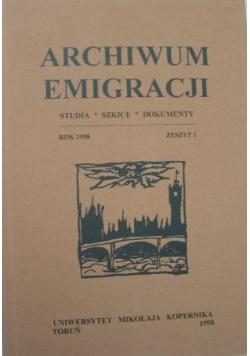 Archiwum Emigracji Zeszyt 1