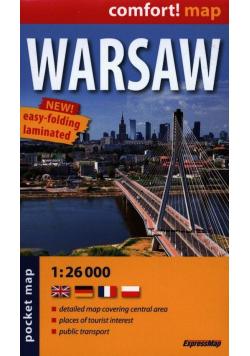Warsaw pocked map 1:26 000