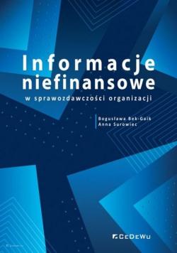 Informacje niefinansowe w sprawozdawczości organizacji