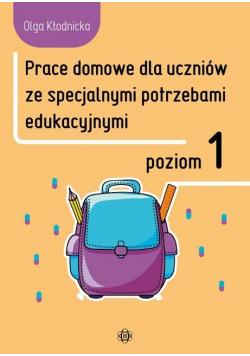 Prace domowe dla uczniów ze specjalnymi.. Poziom 1