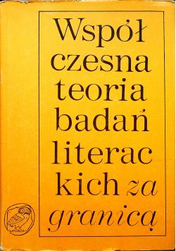 Współczesna teoria badań literackich za granicą Tom III