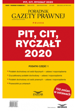 PIT CIT Ryczałt 2020
