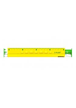 Linijka 4w1 20cm Linijka gumka temperówka ołówek