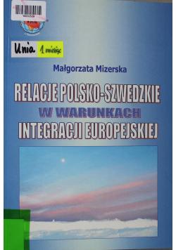 Relacje polsko-szwedzkie w warunkach integracji europejskiej