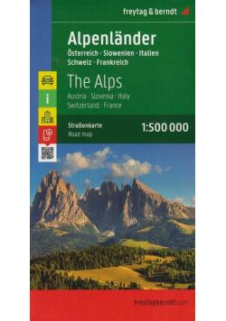 Mapa samochodowa - Alpy - Austria.. 1:500 000