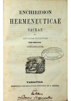 Enchiridion hermeneiticae 1859 r