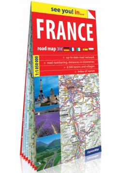 Francja papierowa mapa samochodowa 1:1 050 000