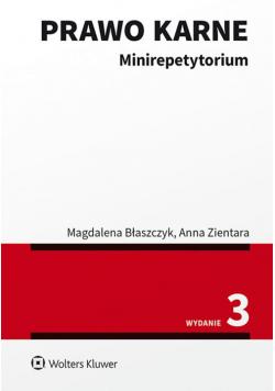 Prawo karne Minirepetytorium
