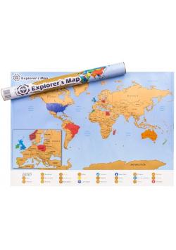 Mapa Odkrywcy - Świat - ulepszona zdrapka w.ang