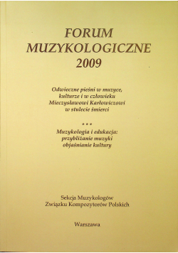 Forum muzykologiczne 2009