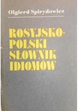 Rosyjsko polski słownik idiomów