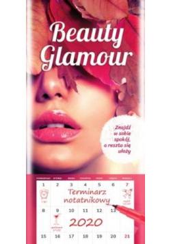 Kalendarz 2020 ścienny Notatnikowy Beauty Glamour