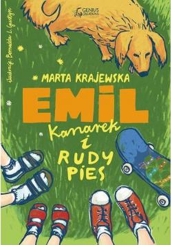 Emil, kanarek i rudy pies