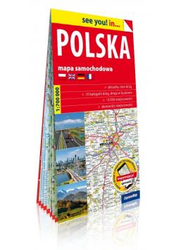 Polska papierowa mapa samochodowa 1:700 000