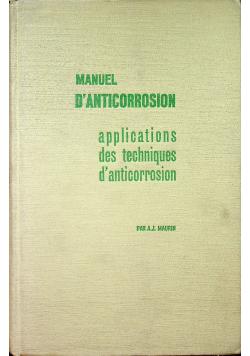 Manuel Danticorrosion Tome II applications des techniques de anticorrosion