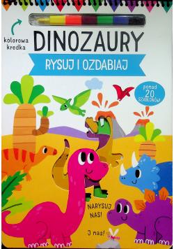 Dinozaury Rysuj i ozdabiaj
