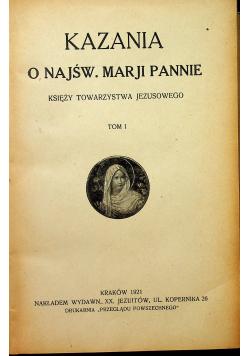 Kazania o Najświętszej Marji Pannie 1921 2 tomy
