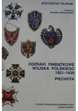 Odznaki Pamiątkowe wojska Polskiego 1921 1939 Piechota