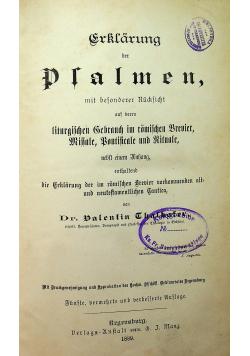 Erklarung der Psalmen mit besonderer Rucksicht 1889r