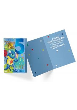 Karnet PR-326 Urodziny 5 chłopiec