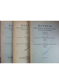 Rocznik polskiego towarzystwa geologicznego 3 tomy