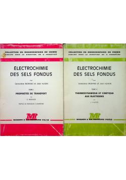 Electrochimie des sels fondus 2 tomy