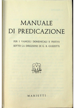Manuale Di Predicazione