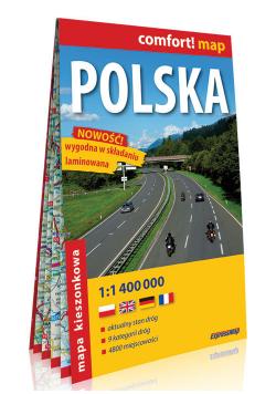 Polska kieszonkowa mapa samochodowa 1:1 400 000