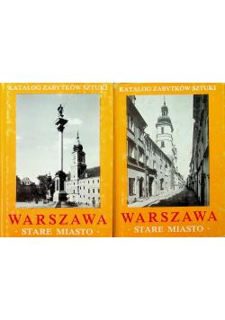 Warszawa stare miasto zestaw  2 książek