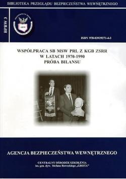 Współpraca SB MSW PRL z KGB ZSRR w latach 1970 do 1990